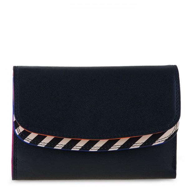 Venice Double Flap Purse/Wallet Black