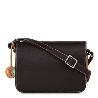 Rhodes Flapover Crossbody Brown