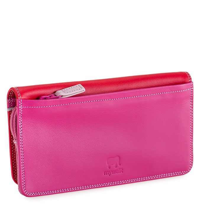 prezzo competitivo 365d4 0c036 Flapover Wallet with Coin Section Ruby
