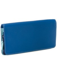Flapover Wallet with Coin Section Denim