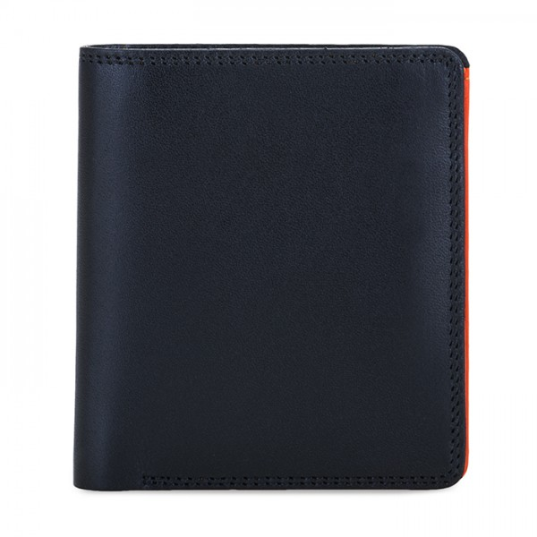 Men's Bi-fold with Pull Out Tab Black-Orange