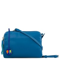 Bruges Double Zip Cross Body Sea Blue