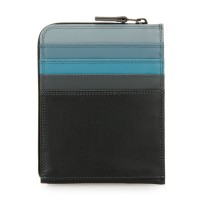 Zip Around CC Holder/Wallet Black Smokey Grey