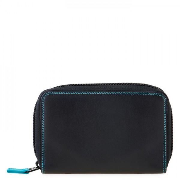 Medium Leather Zip Around Wallet Black Pace