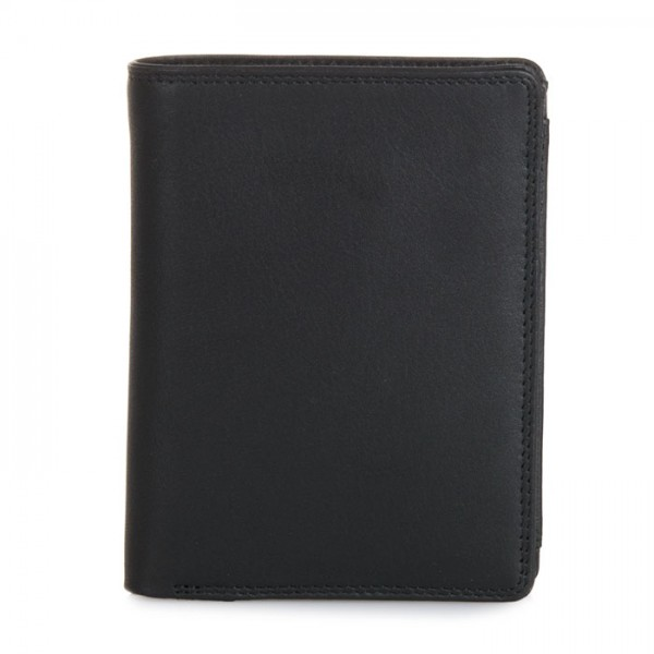 Wallet w/inner Leaf & Coin Pocket Black