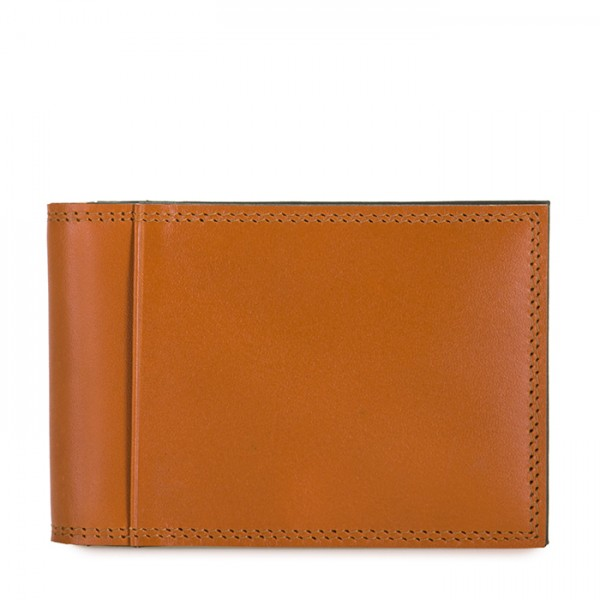 Men's Bi-fold CC Holder Tan-Olive