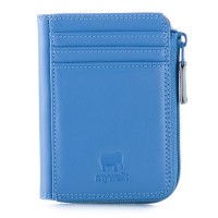 RFID Small Zip Purse River Blue