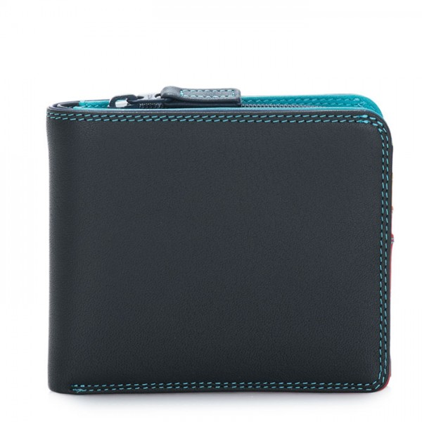 Wallet w/Middle Zip Section Black Pace