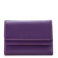 RFID Double Flap Purse/Wallet Purple