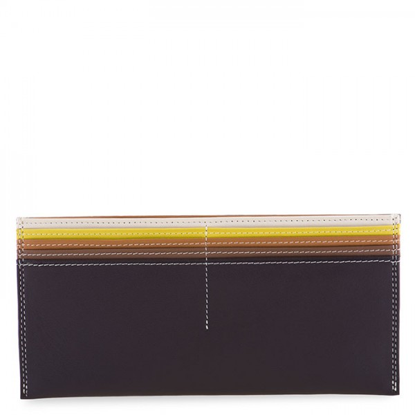 Large Leather C/C Bill Holder Mocha