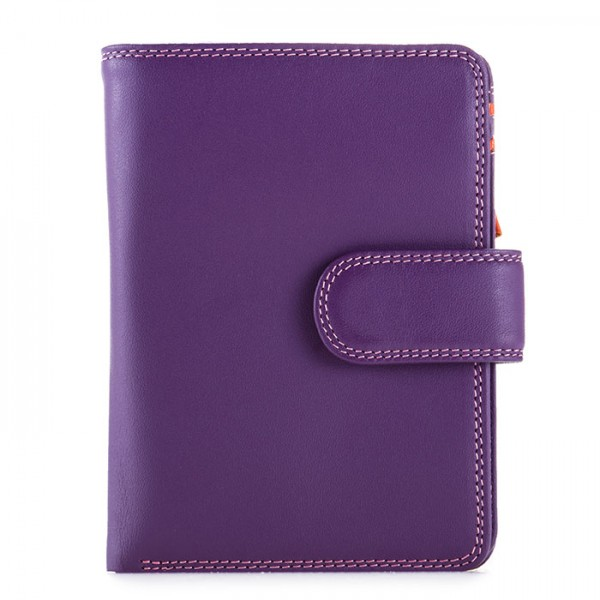RFID Medium Snap Wallet Purple