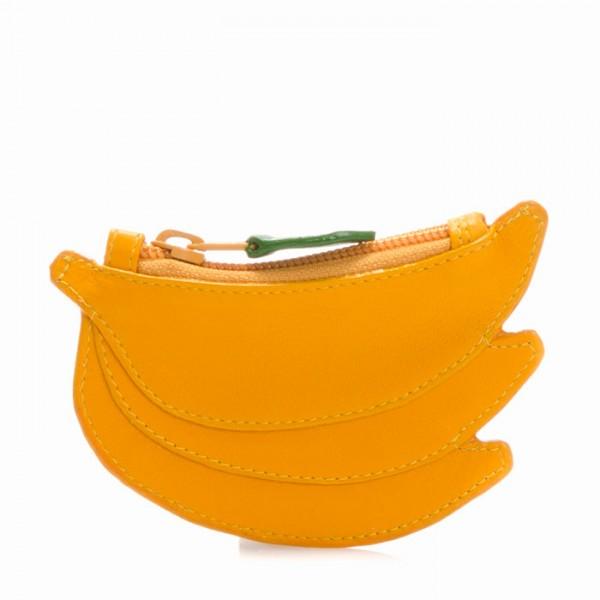 Kleingeldbörse im Bananendesign Gelb