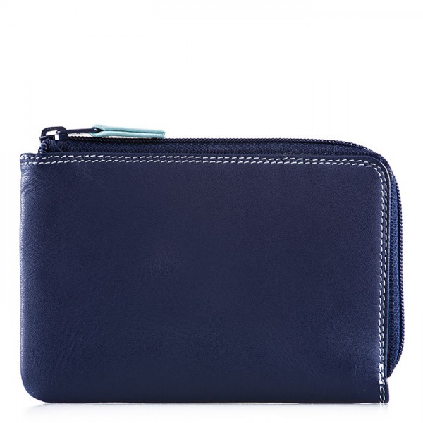 Zip Around Wallet Denim