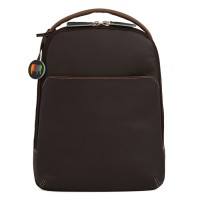 Office Large Leather Cross Body Backpack Mocha