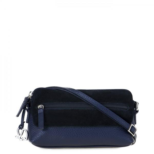 Petit sac porté épaule Pompei Bleu
