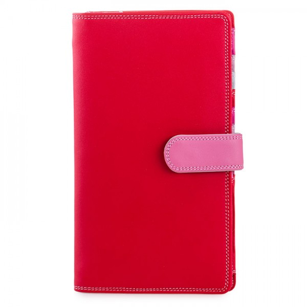 Large Tab Tri-fold Wallet Ruby