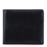 RFID Large Men's Wallet with Britelite Black-Orange