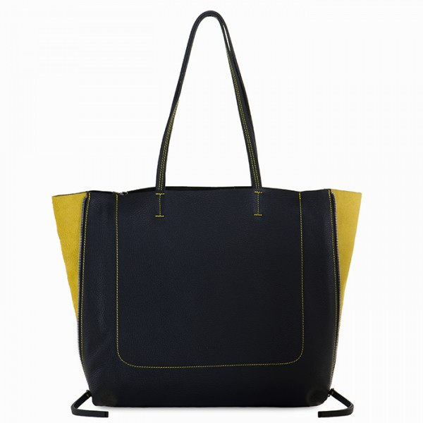 Borsa Shooper Icon Nero-Giallo