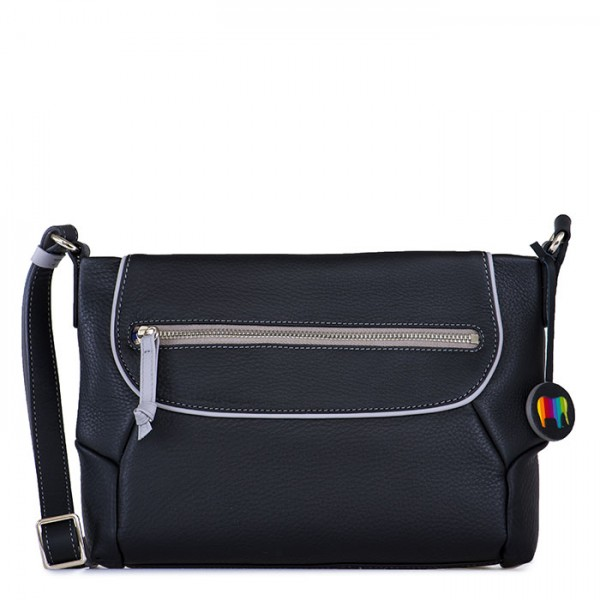 Marseille Zip Top Crossbody Black