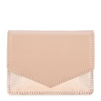 Tri-fold Leather Wallet Nude Rose-Gold