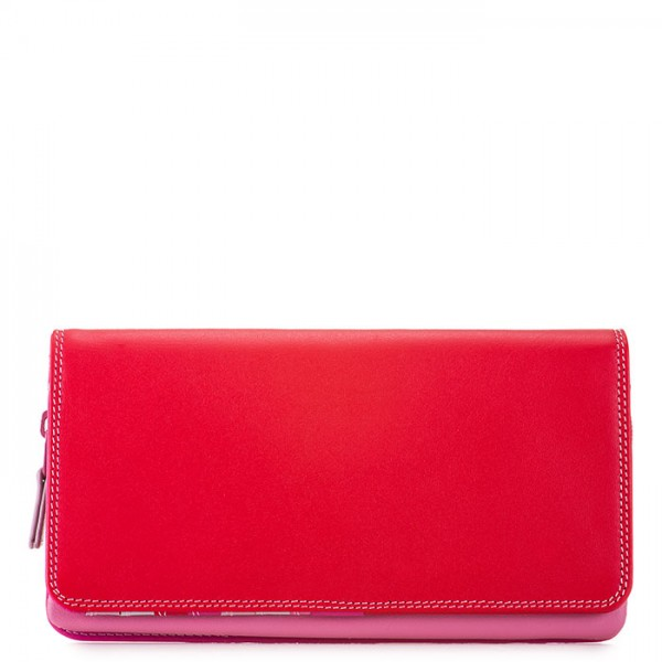 Flapover Wallet with Coin Section Ruby