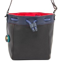 Ancona Small Leather Drawstring Bag Black Pace