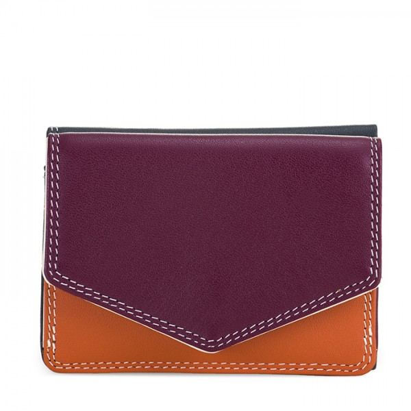 Tri-fold Leather Wallet Chianti