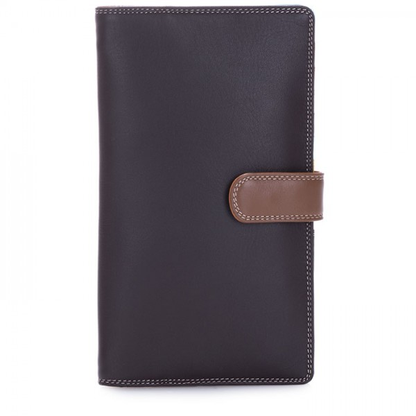 Large Tab Tri-fold Wallet Mocha