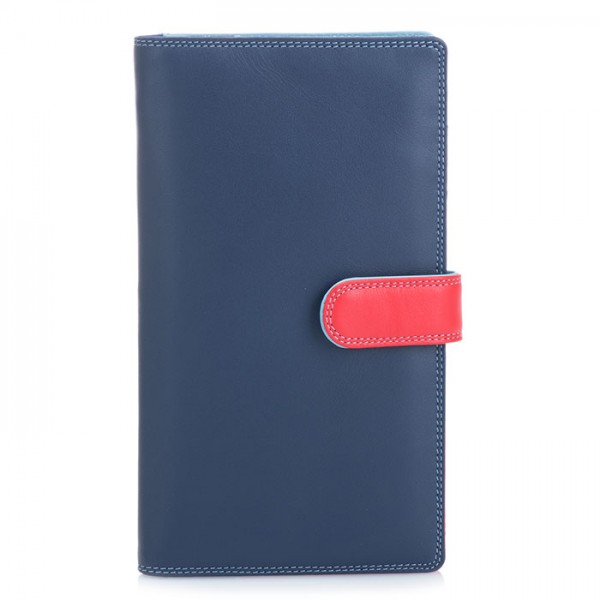 Large Tab Tri-fold Wallet Royal