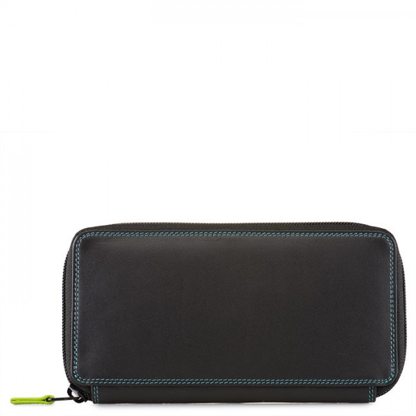 Large Zip Around Purse Black Pace