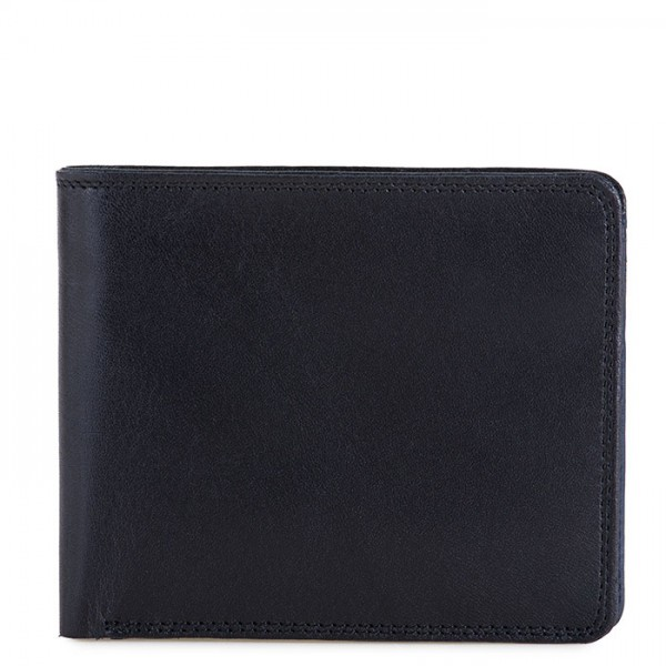RFID Standard Men's Wallet with Coin Pocket Black-Blue