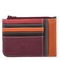 Slim Credit Card Holder with Coin Purse Chianti