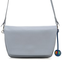 Bruges Flapover Cross Body Grey