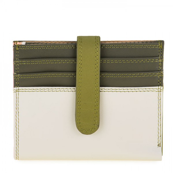 Small Tab Card Wallet Olive