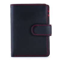 RFID Medium Snap Wallet Black