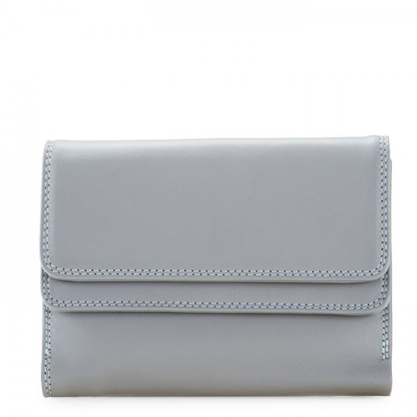 RFID Double Flap Purse/Wallet Grey