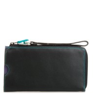 Zip Round Multi Purse with Wristlet Black Pace