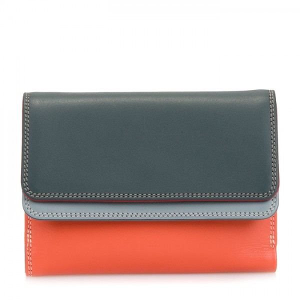 Double Flap Purse/Wallet Urban Sky