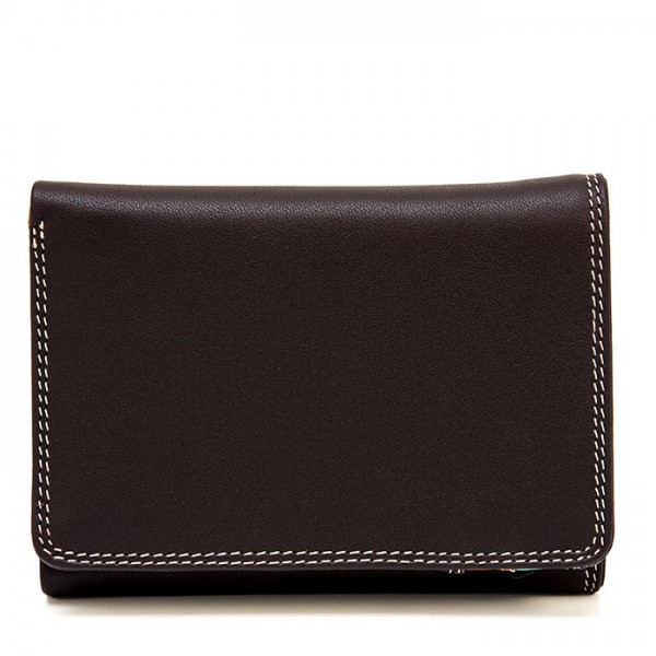 Men's Tri-fold Leather Wallet Mocha