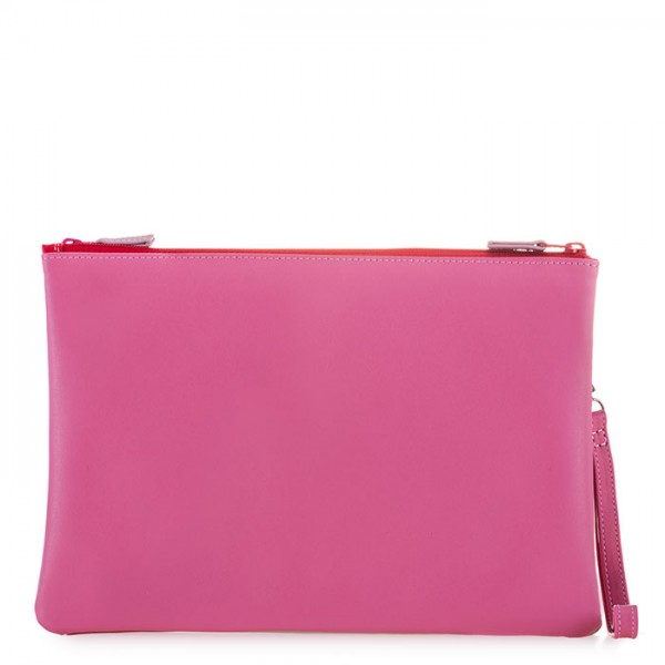Medium Double Zip Pouch Ruby