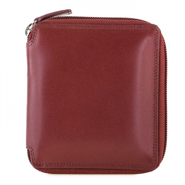 RFID Men's Zip Around Wallet Brown-Yellow