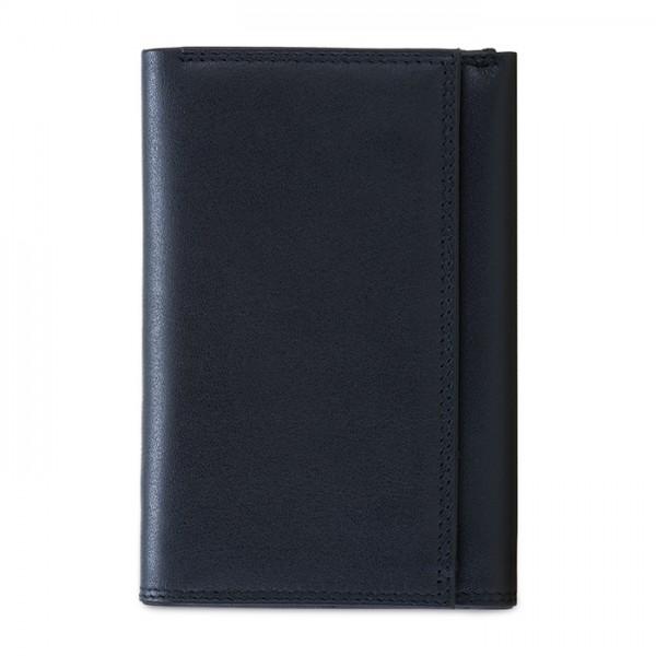 RFID Men's Tri-fold Wallet with Zip Nappa Black