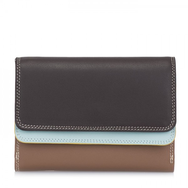 Double Flap Purse/Wallet Mocha