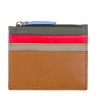 Credit Card Holder w/Zip Pocket Caramel