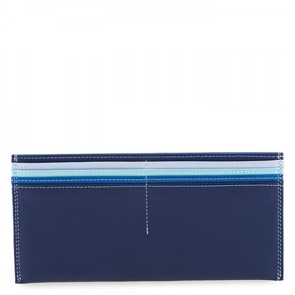 Large Leather C/C Bill Holder Denim