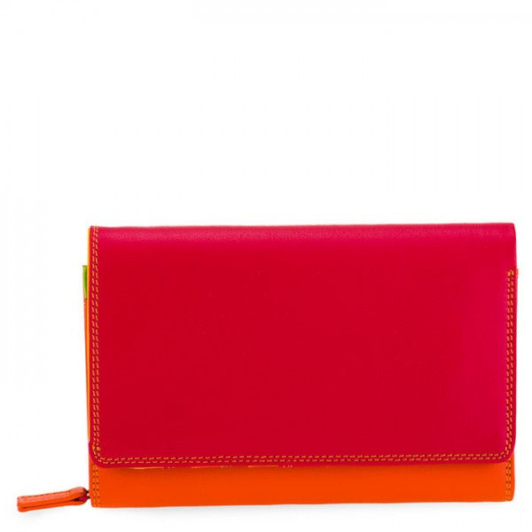Medium Leather Flapover Wallet Jamaica