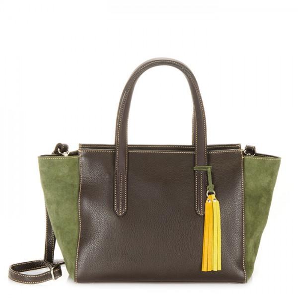Nevada E/W Shopper Brown/Evergreen