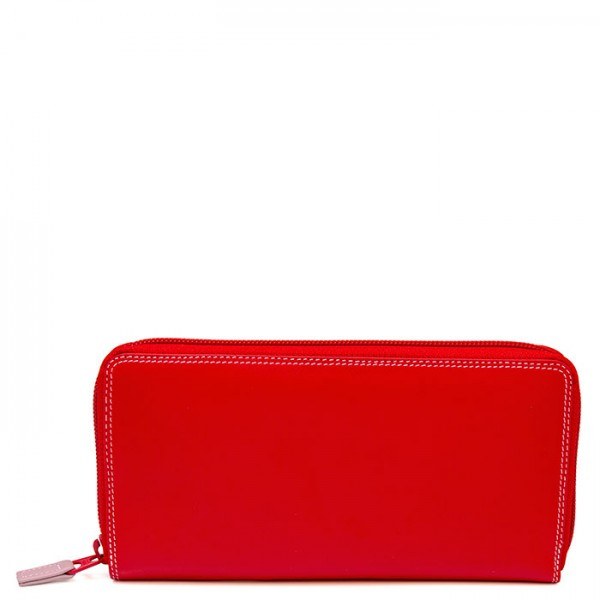 Zip Around Purse Ruby