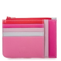 Slim Credit Card Holder with Coin Purse Ruby