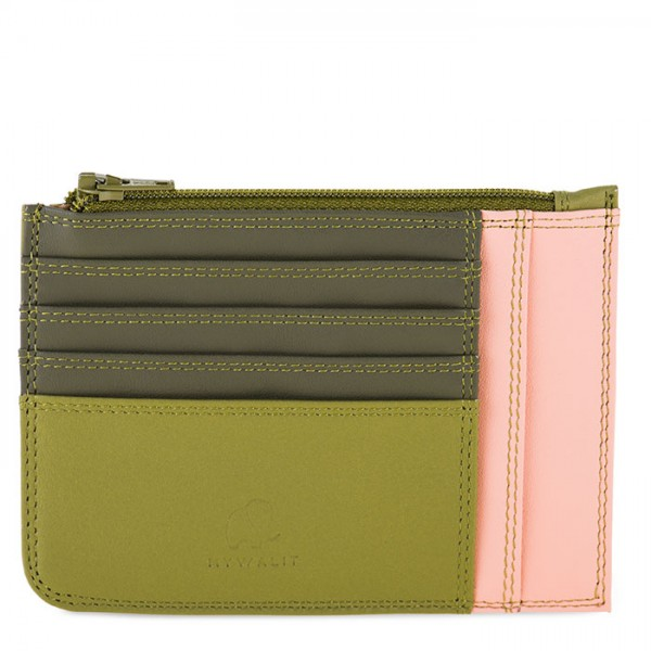 Slim Credit Card Holder with Coin Purse Olive